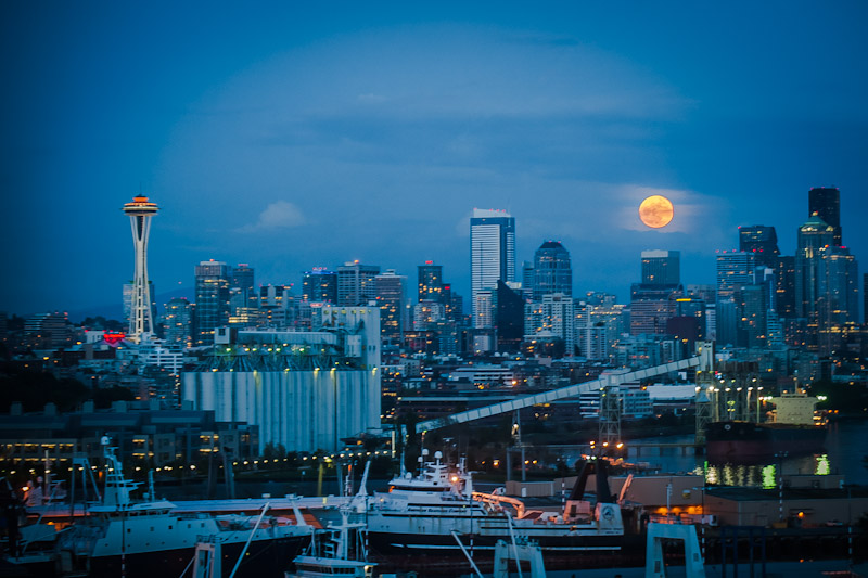Super Moon Seattle May 5, 2012