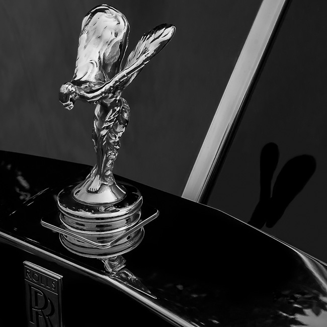 Hood ornament, 1988 Rolls Royce Silver Sprint