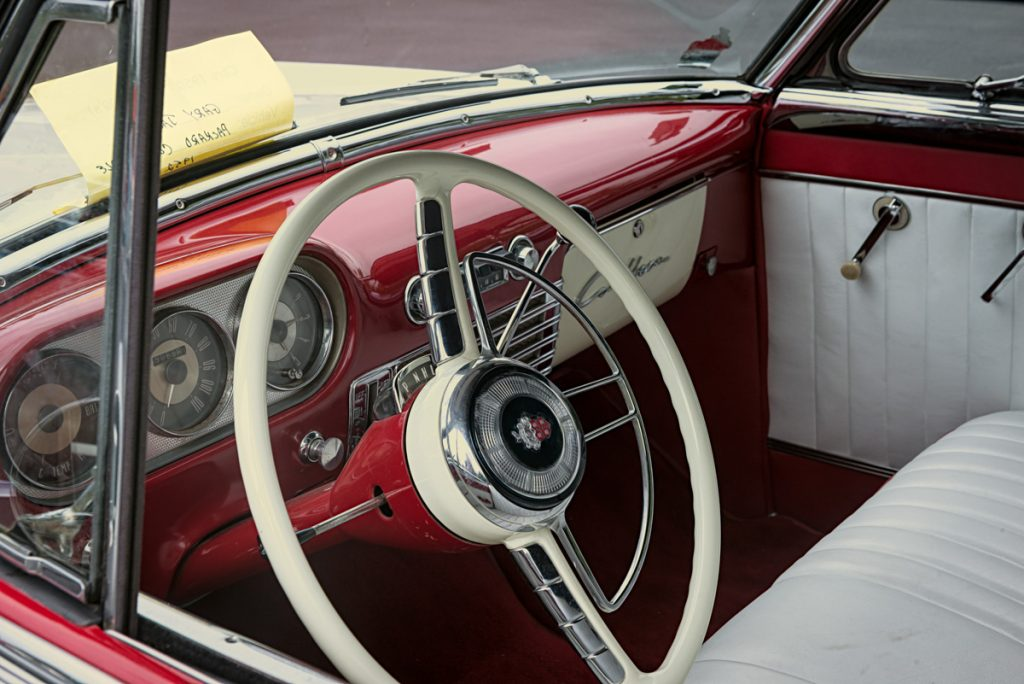 1952 Packard convertible - interior
