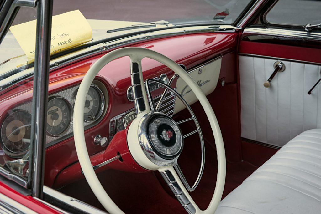 1952 Packard convertible - interior