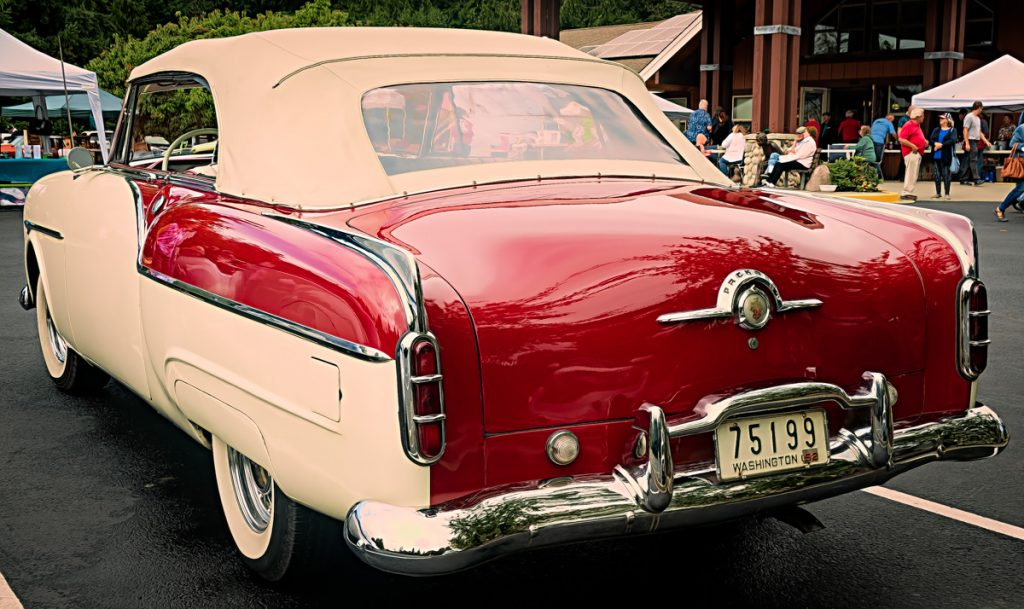 1952 Packard convertible - rear view